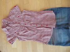 :::Jeans-Minirock blau+ süße Bluse in weiß/ blau/ rot karriert :::Gr. XS/34 :::