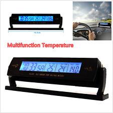 Reloj Digital LCD coche 12V Voltaje metro Monitor de visualización de la temperatura del termómetro