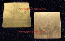 2016 Palau, 100% pure MUONIONALUSTA Meteorite! Gold - ONLY 50 PIECES! $1 Dollar