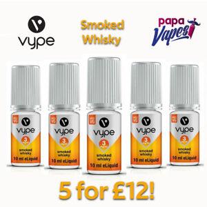 VYPE E-LIQUID 5 for £12!   SMOKED WHISKY   VAPE JUICE   3MG/6MG/12MG   10ML