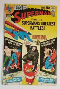 Superman #239 FN 6.0 1971 DC G-84 Giant Superman's Greatest Battles!