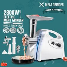 2800W Electric Sausage Maker Meat Grinder Mincer Kibbe Food Processor Stainless