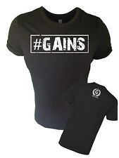 Iron Gods #GAINS Muscle T-Shirt Workout Weightlifting Bodybuilding Gym Apparel