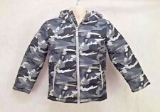 Youths Faded Glory Pillow/Puffer Hooded Jacket Size M/Medium Grey Camo