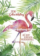 "Edition Gollong ""Carola Pabst"": Flamingo zum Geburtstag Postkarte Glitzer DIN A6"