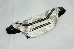 Isabel Marant Silver Noomi Waist Bag Belt Bag Fanny Pack