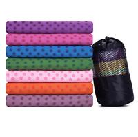 Non-Slip Blanket Yoga Mat Cover Towel Sport Fitness Travel Exercise Workout Tool