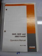 Case 584E 585E 586E Forklift Fork Lift Truck Operator's Owner's Manual 9-11046