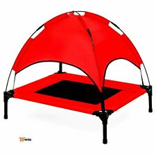 "Elevated Cooling Dog Beds Canopy Outdoor Raised Sun Shade Top Tent Bag30""-Rsenio"