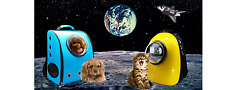 Rocket Pet Astronaut Capsule Pet Backpack Breathable Dog Cat Carrier Travel Bag