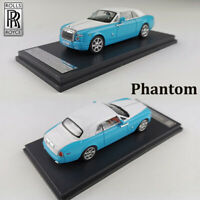 New Arrival Blue Limited 1:64 Rolls Royce Phantom Coupe Car Model Toys for Gift