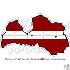 LATVIA, Latvian Map-Flag, Riga, Latvija, Vinyl Bumper Sticker Decal