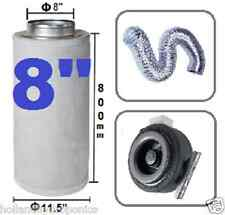 """8"""" Carbon Filter Duct Fan Ducting Ventilation kit for your Hydroponic Grow Tent"""