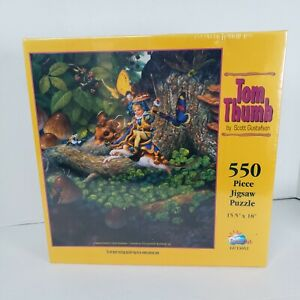 "Tom Thumb SunsOut Puzzle Scott Gustafson 550 Piece 15.5""× 18"" Greenwich Workshop"