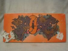 outsider art painting spray can sculpture graffiti original on mdf board