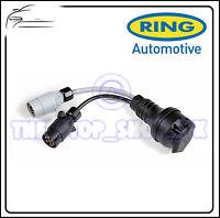 Ring Plug Adapter 12N + 12S 7 pin sockets to 13 pin plug towing trailer A0039