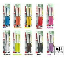 6 coltelli da Tavola cucina Kaimano Lama inox dentata Nero Coltello tagliente