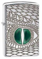 Zippo 28807, Armor, Dragon Eye, Deep Carved, HP Chrome Lighter,***Flints/Wick***