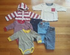 Baby Boy 6-12 Months Mix and Match 3 Pants, 2 Bodyshirts, 1 T-Shirt, 1 Hoodie