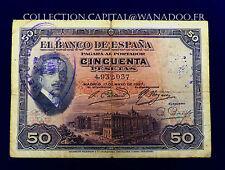 Billet Espagnole Republica Espanole 1937 Pessellas Tipo I Cote 80€ en BC