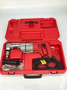 """MILWAUKEE 3107-6 7Amp 1/2"""" Corded Heavy Right-Angle Drill Kit GR"""