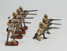 Seven New Metal Troops Firing Toy Soldiers Probably Boer War
