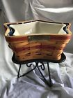 Longaberger Christmas Collection 2001 Shining Star Basket W/Inserts and Pottery