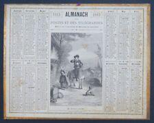 Calendrier Almanach  Oberthur 1883 Cavalier breton Bretagne calendar