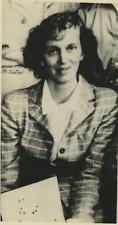 Dorothy Crowfoot-Hodgkin, awarded - Nobel Prize for Chemistry  Vintage silver pr