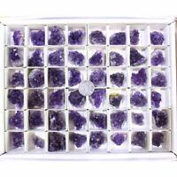10x Natural Amethyst Cluster Geode Crystal Quartz Specimen Mineral Reiki Healing