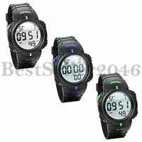 Men's Sports Digital Wrist Watches Electronic Quartz Movement with LED Backlight