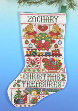Cross Stitch Kit ~ Design Works Christmas Treasures Christmas Stocking #DW5960