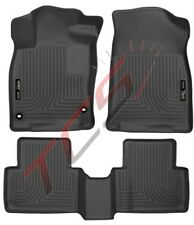 Husky Liners for 2015 Ford Edge WeatherBeater Front & 2nd Row Combo Floor Liners