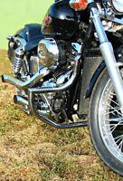 Honda VT750 Shadow Black Widow Engine Crash Bar Guard with Highway Pegs