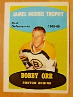 1969-70 O-Pee-Chee OPC Bobby Orr #209 James Norris Trophy Boston Bruins