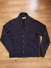 Universal Works Cardigan Navy Button Men's Size M Jacket Sweater Cotton Jumper