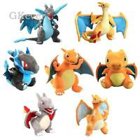 Mega Charizard X Y Plush Toy Stuffed Animal Doll Dragon Teddy Kids Xmas Gift