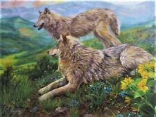 "New 300 Piece Lucie Bilodeau Art Puzzle ""Wolf Haven"" Large Format 18x24"