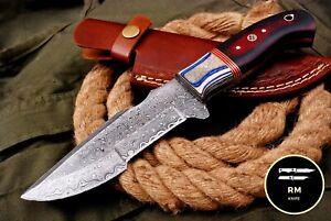 10''NEW HANDMADE DAMASCUS STEEL FULL TANG HUNTING KNIFE SURVIVAL TRACKER KNIFE83