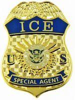 "Immigration and Customs Enforcement Special Agent Mini Badge Lapel Pin - 1.5"""