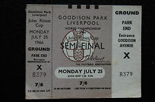 UN-USED TICKET 1966 WORLD CUP  SEMI-FINAL 25/07/1966  RUSSIA V WEST GERMANY