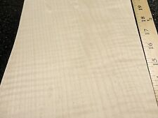 """Curly Maple figured quilted wood veneer 7"""" x 29"""" raw no backing 1/42"""" thickness"""