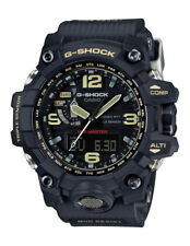 Casio Gwg1000-1a Mens Black Dial Dual Quartz Watch With Resin Strap