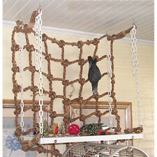 New listing Funny Acrylic Rope Net Swing Ladder for Pet Parrot Birds Chew Play Toy Climbing