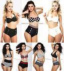 Cutest Retro Swimsuit Swimwear Vintage Pin Up High Waist  Bikini  S/M/L/XL/XXL