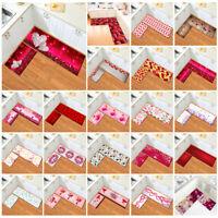 Rustic Wood Board Valentine LOVE Heart Area Rug Kitchen Floor Mat Bedroom Carpet