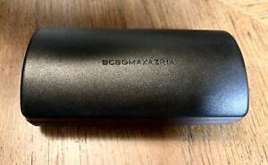 NEW BCBG Max Azaria Sunglasses Glasses Clam Shell Hard Case BLACK Large W/ Cloth