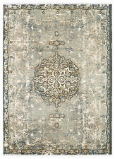 4' x 6' Karastan Machine Woven Area Rug Floret Ivory by Patina Vie Gray Gold