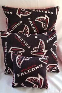 Falcons Pillows~ 3 SET~ Atlanta Falcons  NFL Pillows Handmade Made In USA