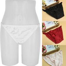 Womens Silk Satin Thongs Panties Sexy Bikini G-String Briefs Underpants Knickers